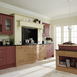 Broadoak Cranberry Painted Kitchen