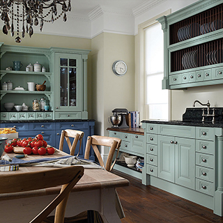 Cornell Blue Painted Kitchen