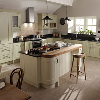 Milbourne Alab Sage Painted Kitchen