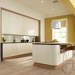 Remo Alabaster Curved Contemporary Kitchen