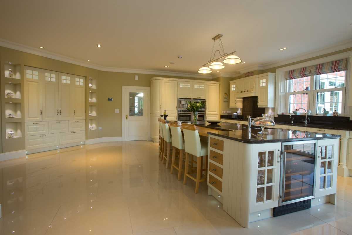 Woodbank Kitchens Northern Ireland Based Kitchen Design Company Bespoke Raised Panel Painted